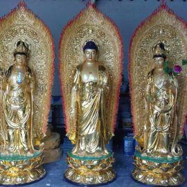 阿弥陀佛 观音菩萨 大势至菩萨 西方三圣佛像厂家