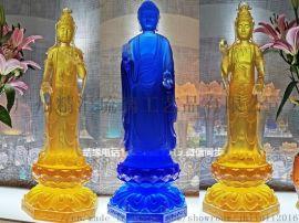 广州琉璃佛像 琉璃东方三圣 大号琉璃日光月光菩萨