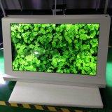 東莞惠華廠家直銷49寸三角形透明液晶觸摸展示櫃