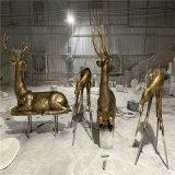 順德樓盤動物雕塑 玻璃鋼動物雕塑廠家