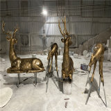 顺德楼盘动物雕塑 玻璃钢动物雕塑厂家