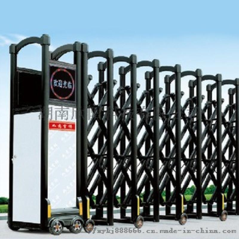 鋁合金伸縮門復古別墅小區庭院電動大門遙控自動摺疊門