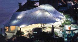 广州厂家提供篮球场膜结构遮阳棚, 膜结构雨棚定制安装