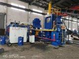 供应江阴WBJ-1000吨大型钢屑卧式压饼机