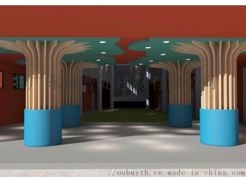 具樂部雪花衝孔板圓柱鋁單板  弧形包柱雕花鋁單板