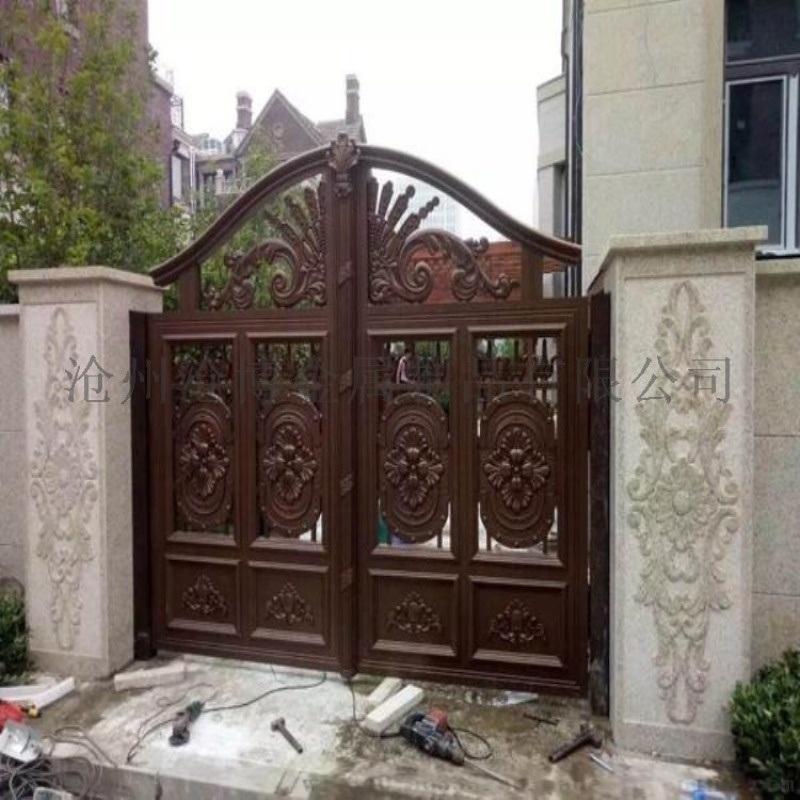 榆林綏德縣小區圍牆鐵藝護欄鏤空庭院大門專業公司