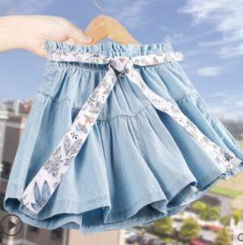 女童夏装牛仔短裤2020新款洋气童装中大童裙裤儿童薄款热裤外穿