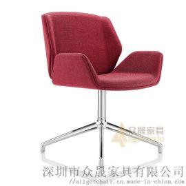 时尚单人沙发椅 办公会客休闲椅 工作电脑椅