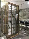 新款紅酒櫃左右平移門不鏽鋼酒櫃設計定做廠家