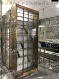 新款红酒柜左右平移门不锈钢酒柜设计定做厂家