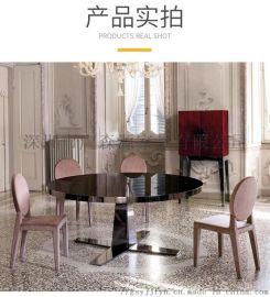 供应实木餐桌椅组合铁艺休闲咖啡厅桌子 餐厅吃饭餐桌