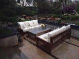 休闲不锈钢沙发茶几组合 商场不锈钢沙发
