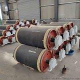 陝西斜井皮帶機卸載滾筒 膠帶機熱包膠卸載滾筒修復