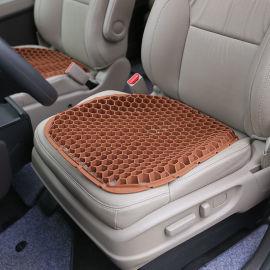 硅胶汽车座垫单片垫子的椅垫隔热不软榻久坐蜂窝坐垫