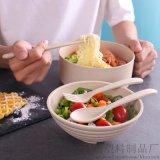 泡面碗神器帶蓋小麥碗食具碗方便面碗筷套裝