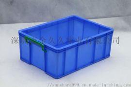 直销兰色全新HDPE料分格塑料周转箱生产