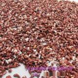 晋中 鸡血红碎石 便道铺路红色鹅卵石 水磨石石子
