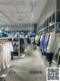 浏阳市实木衣架服装店橱窗展示道具KM服装展示架
