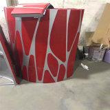 包柱木紋鋁單板鉚接 彎曲鋁方通包柱鋁單板