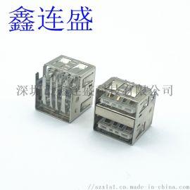 USB AF雙層短體 沉板10.5大電流 透明膠心