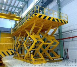 白银市仓储起重机货梯设备固定式货梯剪叉升降平台