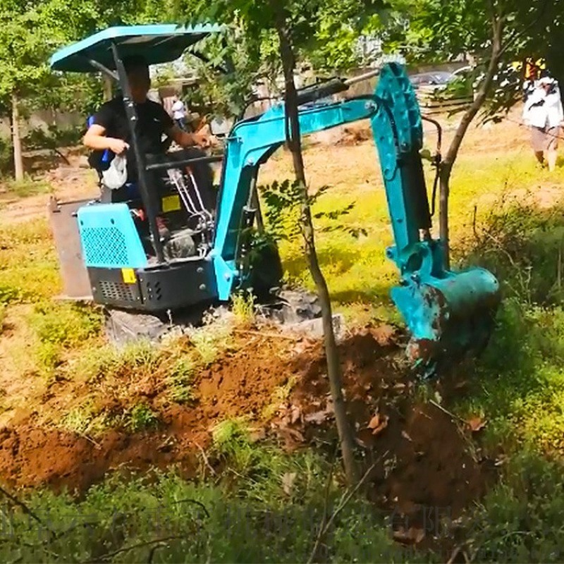溝渠管道小型挖溝機 市政大型工程用挖土機 六九重工