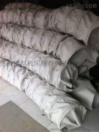 散装机用耐磨伸缩帆布袋 水泥输送吊环伸缩布筒