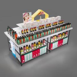 厂家定做饰品靠墙流水台展示柜化妆品展柜超市精品组合货架定制