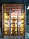 不锈钢酒柜 酒店会所酒柜餐厅酒柜定制不锈钢恒温酒柜