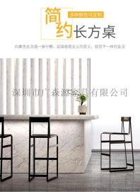 供应实木餐桌椅组合 铁艺休闲咖啡厅桌子