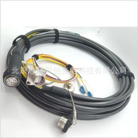 TFS两光四电光电连接器 光纤插头 光纤插座 光电复合连接器组件