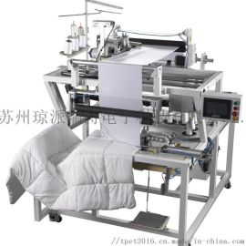 TPET自动床罩包橡筋机,自动四边缝