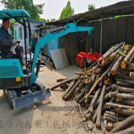挖掘机挖斗 国产小型轮式挖掘机 六九重工 苗圃翻