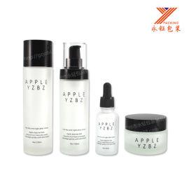 化妆品玻璃套装瓶 直圆化妆品包装 50G厚底膏霜瓶