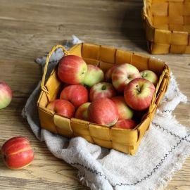 木片编织水果篮面包篮
