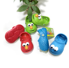 3D洞洞鞋儿童拖鞋卡通防滑沙滩鞋