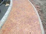 壓花混凝土地坪是一種新穎的路面鋪設材料
