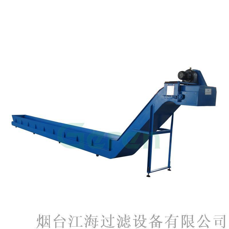 離心甩幹機配套金屬屑輸送裝置鏈板排屑機