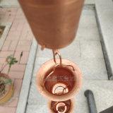 纯铜花杯雨链生产厂家 走廊用装饰排水链
