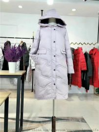 杭州一线品牌女装俪茹长款羽绒服韩版羽绒服