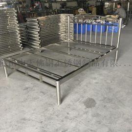 环保不锈钢单人床双人床可拆卸可定制 东莞不锈钢床