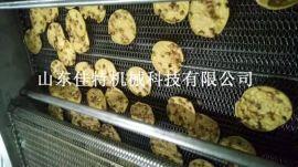 虾饼油炸机是如何下料的,全自动虾饼油炸流水线