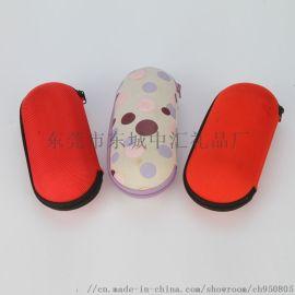 厂家直销定制EVA眼镜盒 圆形拉链数码收纳包