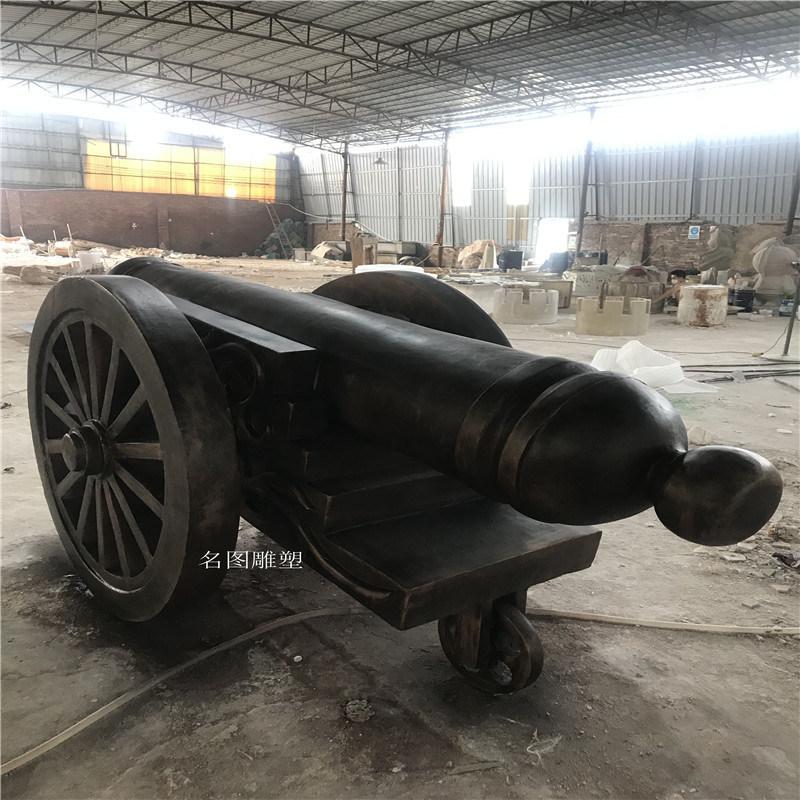 顺德乐园玻璃钢  模型拍戏道具大炮造型雕塑