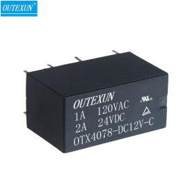 小型信号继电器4078 12V双刀双掷继电器