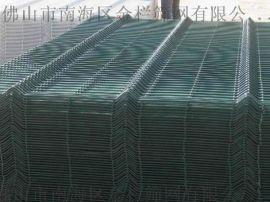 广东折弯护栏厂家桃型柱护栏网喷塑浸塑三角折弯护栏