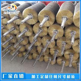 钢丝刷辊除锈钢材抛光毛刷棍 除锈钢丝刷加工厂家
