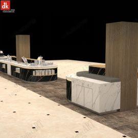 海南海口酒店自助餐厅大理石自助餐台设计制作厂家