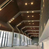 造型铝方通吊顶科技十足 自然美弧形铝方通效果图