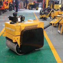 捷克 600手扶式双轮压路机 液压驱动压路机